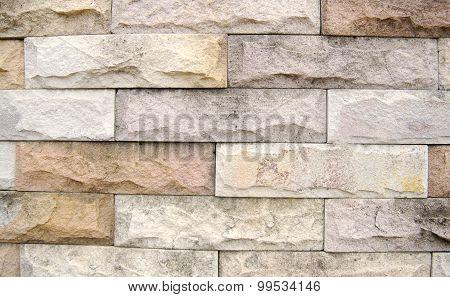 The rugged brick wall