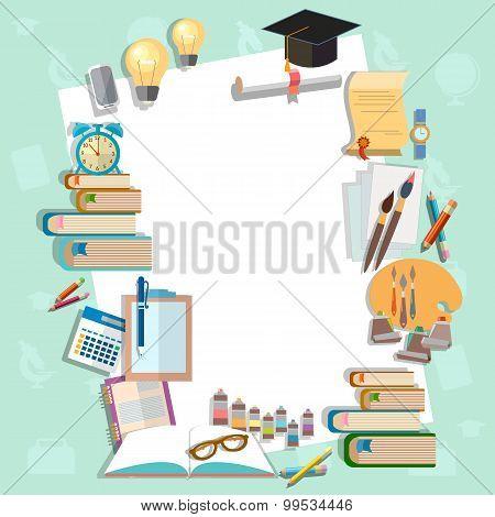 Education Background Diploma Exams Back To School College Campus Algebra Mathematics Graduation Cup
