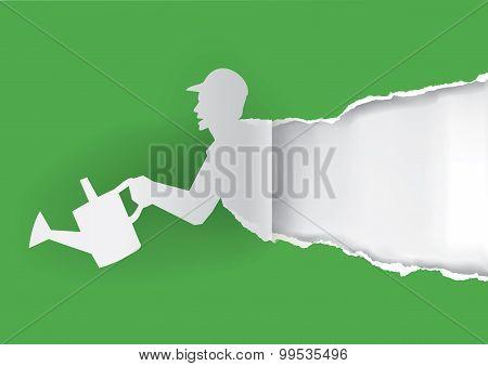 Gardener Paper Silhouette