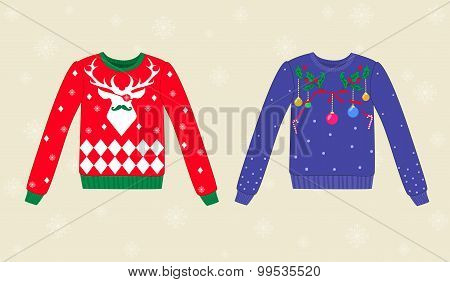 Christmas ugly sweaters