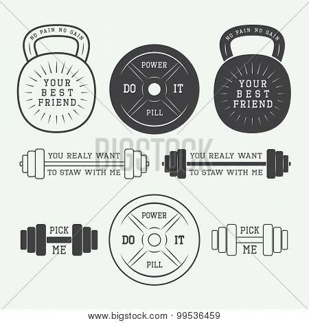Set Of Motivation Logos, Labels And Slogans