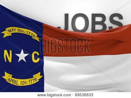 North Carolina jobs and employment opportunities concept