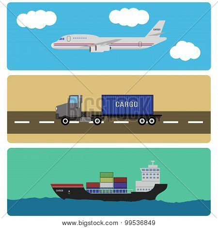 Shipment And Cargo Infographics Elements