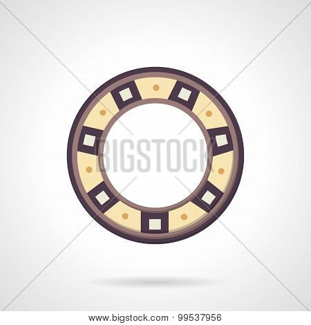 Bearing color vector icon