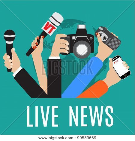 vector live report concept,
