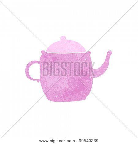 retro cartoon tea pot