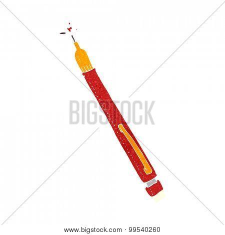 retro cartoon pencil