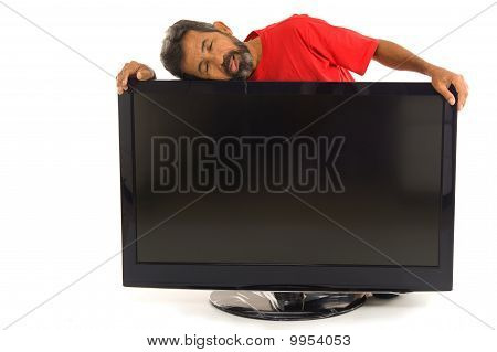 Tired Man And The Tv