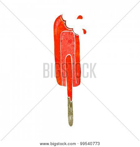 retro cartoon ice lolly