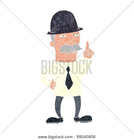 retro cartoon man in bowler hat