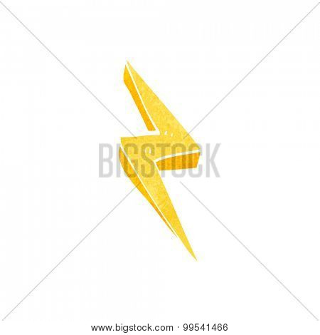 retro cartoon lightning bolt symbol
