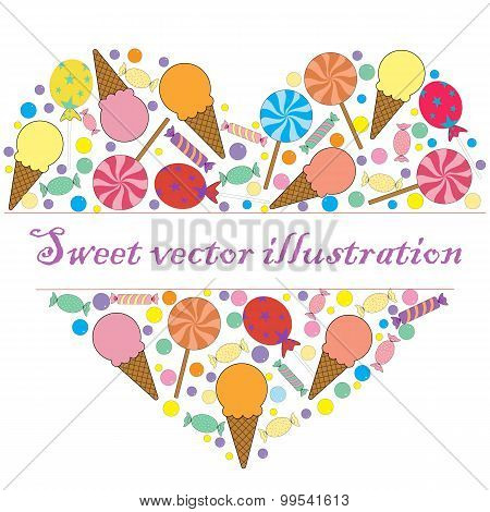 A Sweet Vector Card For Your Text