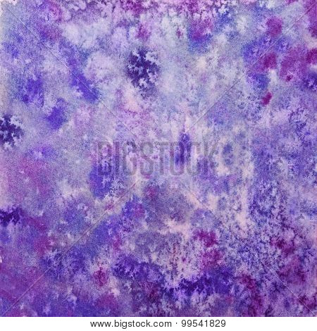 Hand Drawn Purple Watercolor Background