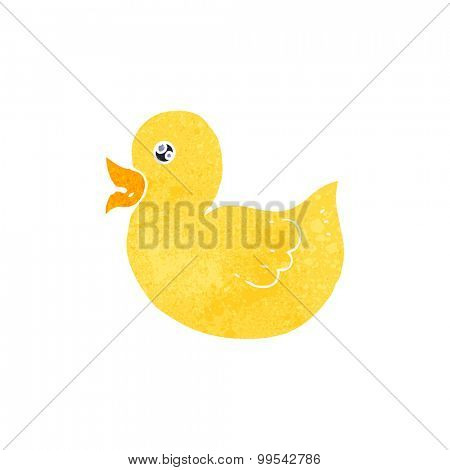retro cartoon rubber duck