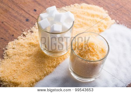 Glasses With Sugar
