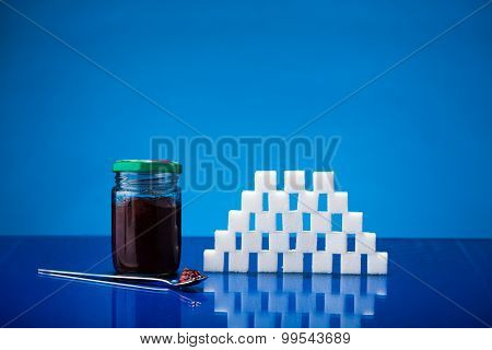 Jar Of Jam And Sugar