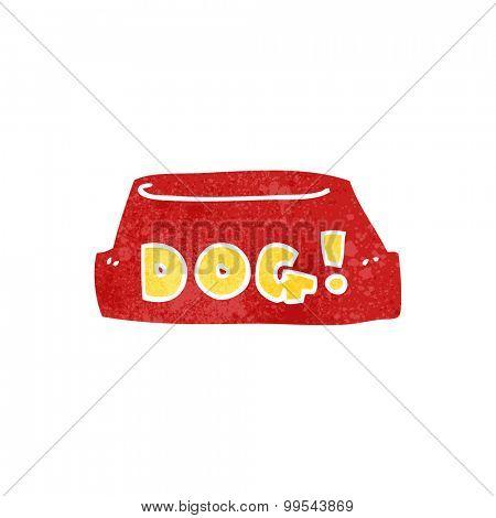 retro empty dog food bowl