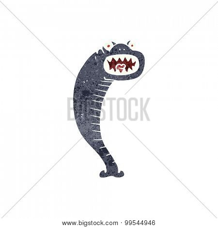 retro cartoon leech