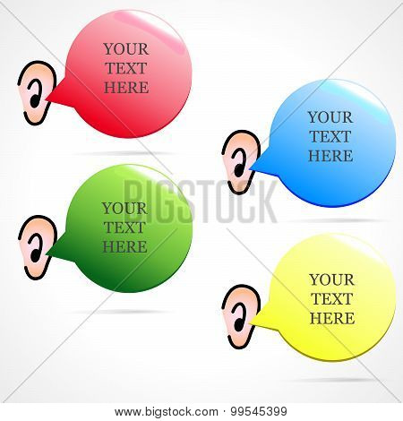 Vector Banner With Text That Enters The Ear