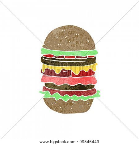 retro cartoon amazing burger
