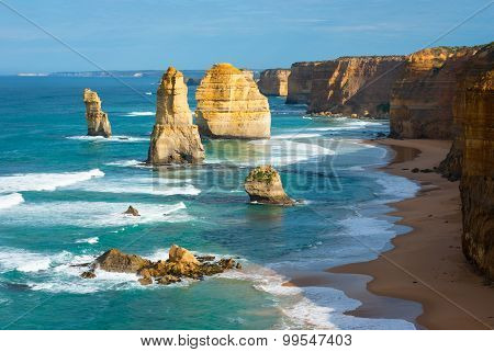 The Twelve Apostles in the morning