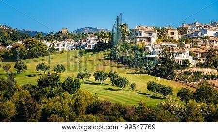 Benahavis In Malaga, Andalusia, Spain. Summer Cityscape. Village