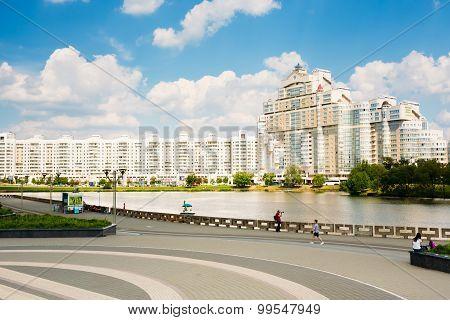 Building In Minsk, Downtown Nyamiha Nemiga, Belarus