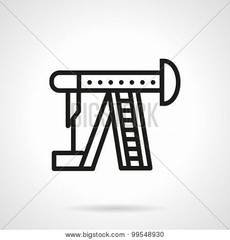Line vector icon for oil pump
