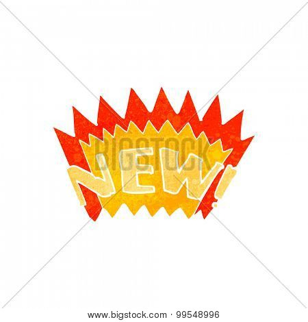 retro cartoon new symbol
