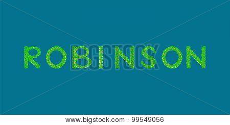 Robinson Text Tropical Island