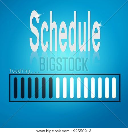 Blue Loading Bar With Schedule Word