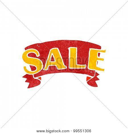 retro cartoon sale symbol