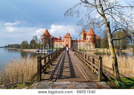 Trakai Castle View With Bridge