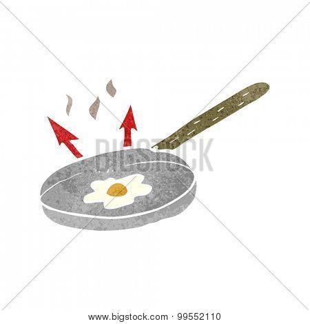 retro cartoon frying pan