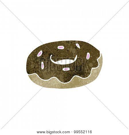retro cartoon donut
