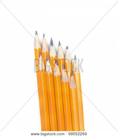 Graphite Pencils Arranged In Two Layers
