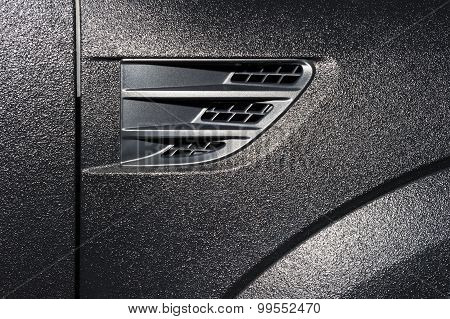 Textured car bodywork