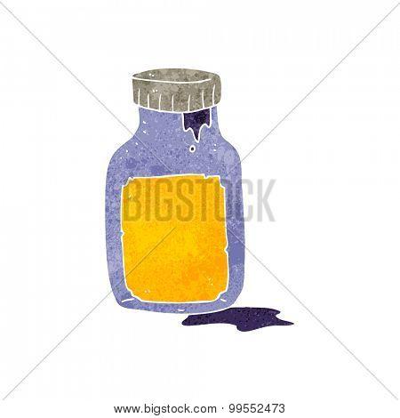 retro cartoon cough medicine