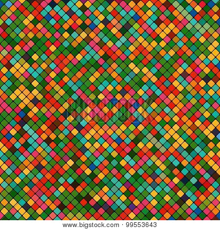 background abstract mosaic of the grid pixel pattern and colored squares. stock vector illustration