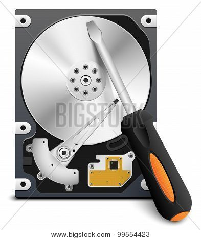 Hdd Repair Icon, Vector
