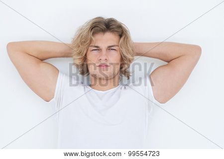 Portrait of a handsome young man, fashion model