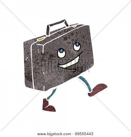 retro cartoon briefcase