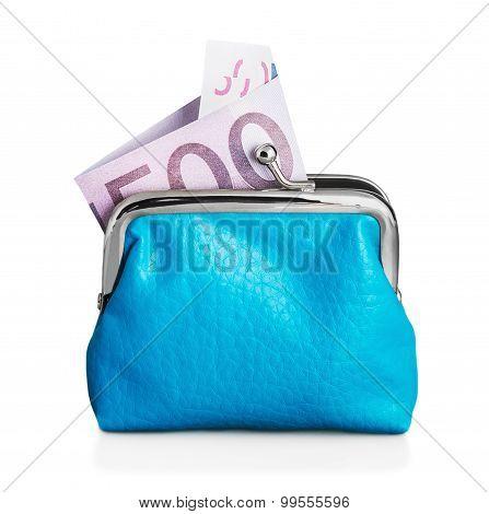 Purse Euro Banknote