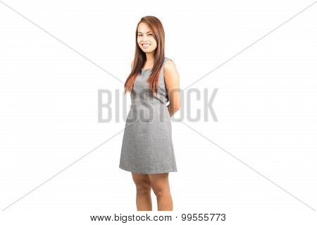 Profile Approachable Genuine Asian Girl Smiling