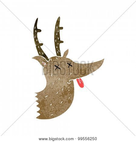 retro cartoon deer head