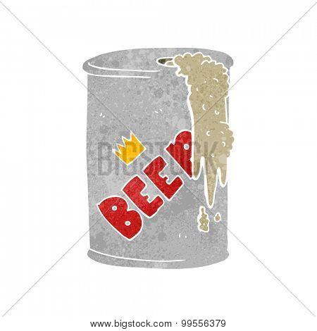 retro cartoon beer can