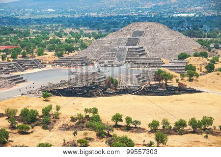 Pyramid of the Moon, Teotihuacan Pyramids, Mexico