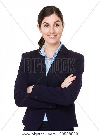 Brunette young businesswoman