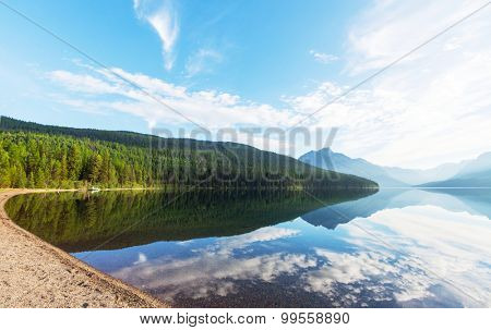 Serenity Bowman lake,Glacier National Park, Montana, USA