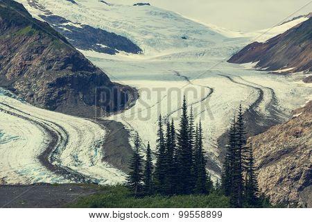 Salmon glacier in Stewart,Canada
